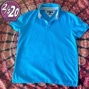 2/20 Mens Large Tommy Hilfiger Cerulean Polo Shirt